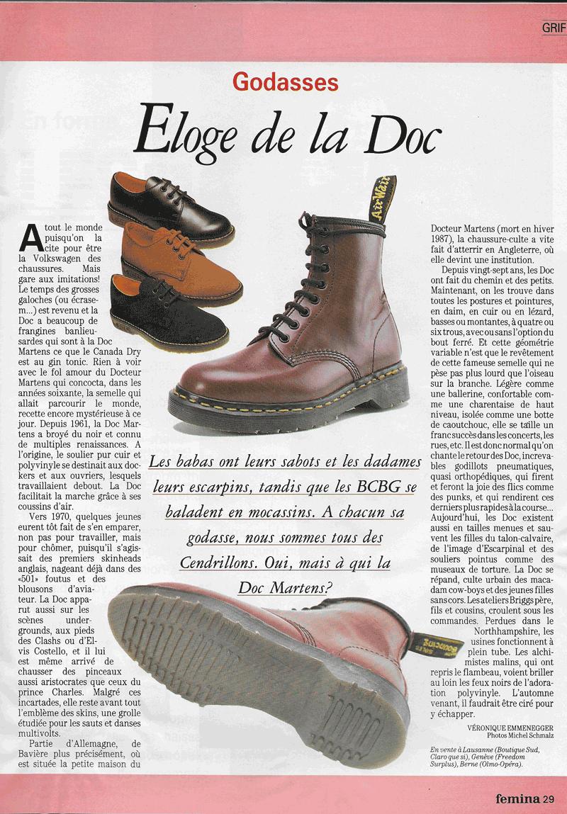 Article sur les chaussures Doc Martins