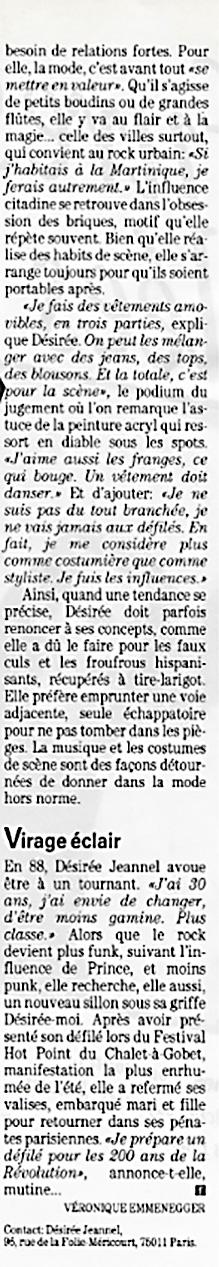 Article du magazine Femina sur Désirée Jeannel