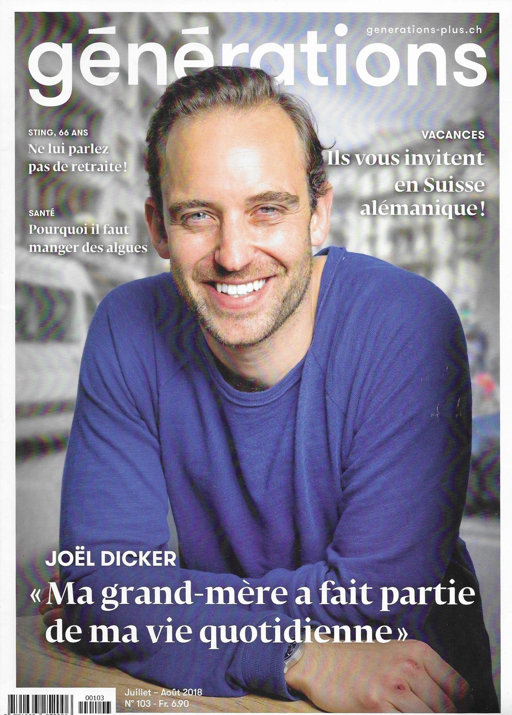 Couverture du magazine Générations, mai 2018