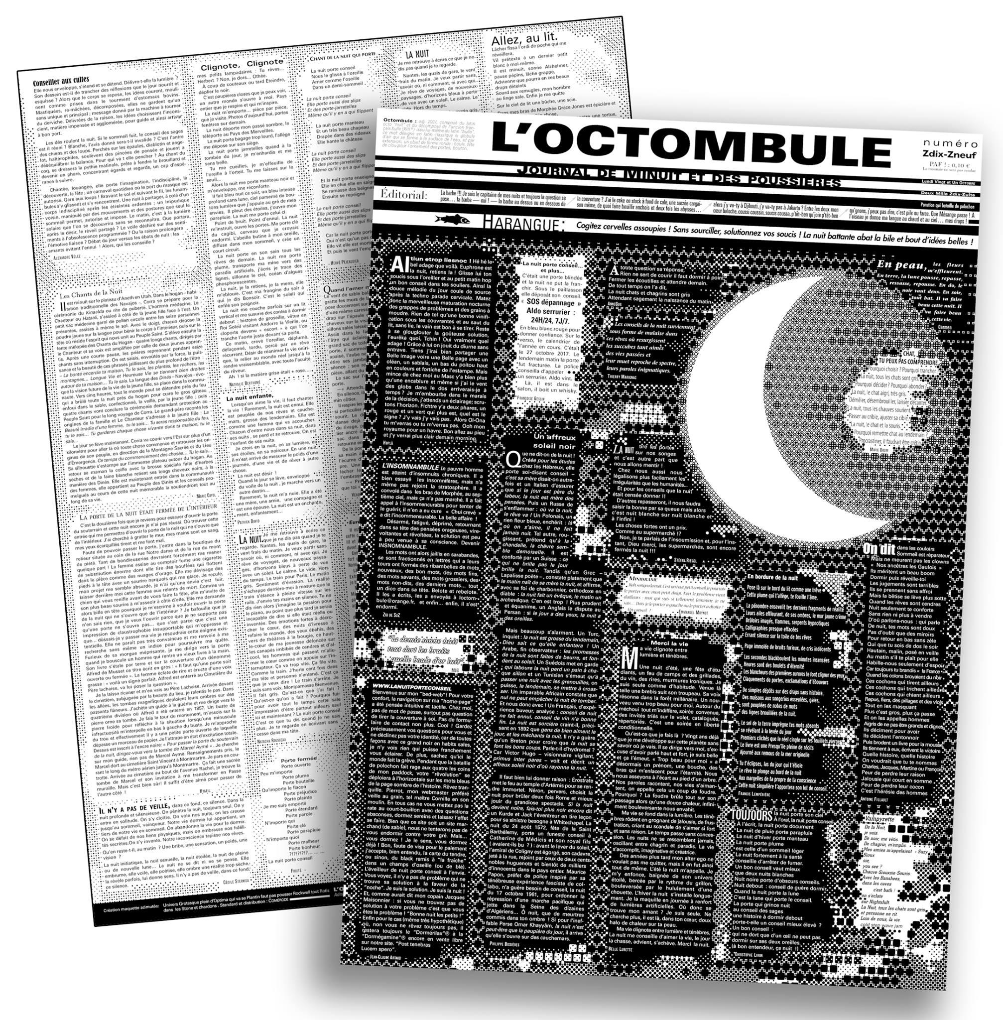 L'OCTOMBULE ou le Journal de Minuit et des Poussières